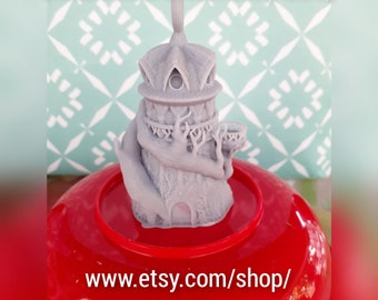 Druid Christmas Ornaments - FDM at 1.6 Detail - 16MM Dice - Miniature Dice Towers - Fates End