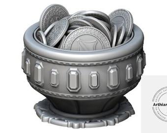 Treasure Dice Box With Lid - Mythic Mugs - Jewelry Box - Trinket Box - FDM
