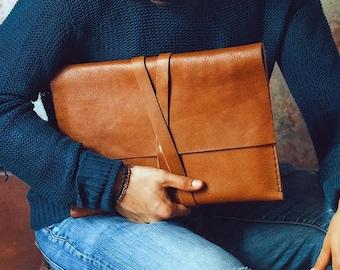 Macbook pro case / Document case / Macbook air 13 case/Laptop sleeve/Leather satchel/Leather laptop bag/Macbook pro 13 case/Macbook pro 16
