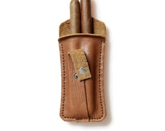 Leather cigar case/personalized gift/cigar case/gift for him/gifts for dad/cigar accessories/men gift/cigar pouch/cigar gifts/groomsmen gift