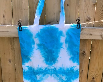 Shibori Tie Dye Tote Bag  Beach Bag Grocery Bag Cotton Eco-friendly  Reusable