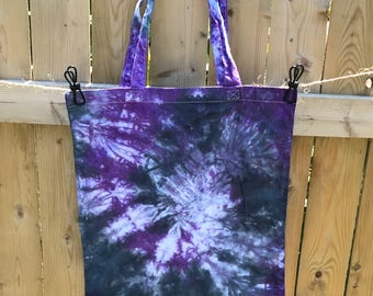 Shibori Tie Dye Tote Bag Christmas Gift Bag Grocery Bag Beach Bag Cotton Eco-friendly  Reusable