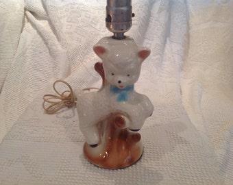 Vintage Ceramic Lamb Lamp