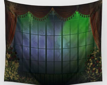 Haunted Mansion Coffin Area Backdrop