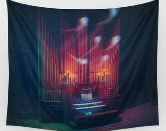 Haunted Mansion Organ Ghost Backdrop