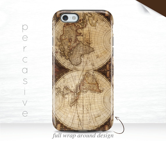 World map iphone 6s case vintage iphone 6plus case antique etsy image 0 gumiabroncs Images