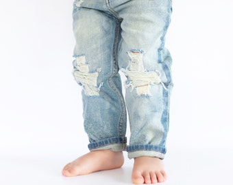 The Industrial Jeans, Skinny jeans, skinnies, baby denim jeans distressed denim jeans for baby baby ripped jeans toddler jeans