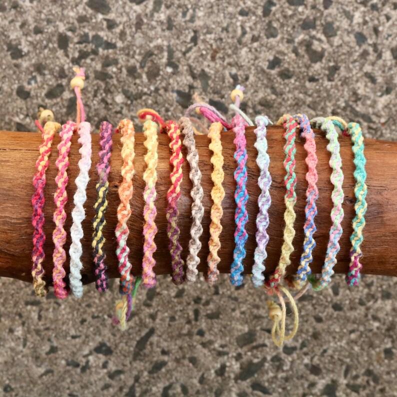 Variegated Hemp Handmade adjustable Friendship image 0