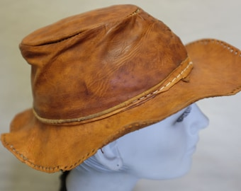 All Leather Vintage Bush Hat