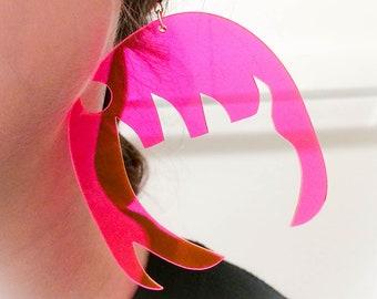 Hoop Anime Head Inverted Earring