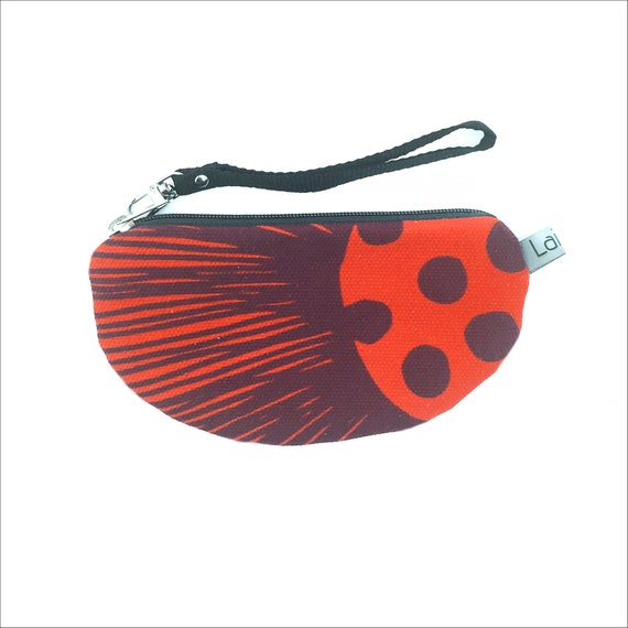 Canvas pencil case, red canvas, poppy red