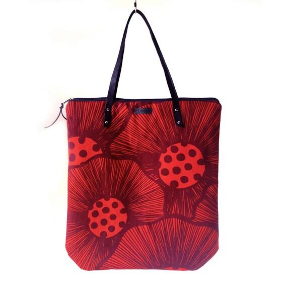 "Canvas shopping bag ""Leggera"", violet bag, vegan bag, imperial purple and yellow mustard"