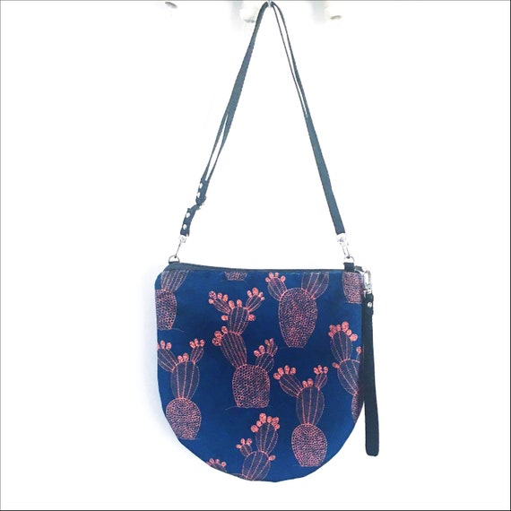 "Blue and orange shoulder bag graphic ""ficalinni"", LARGE rack in brushed poly"