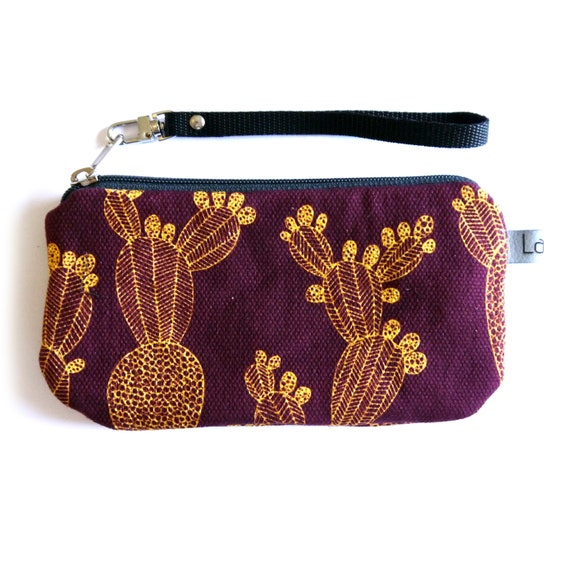 Canvas pencil case, purple and yellow canvas, bordeaux and yellow, eggplant purple, flame red