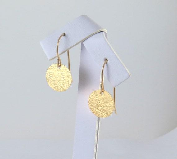 Goldene Schallplatte Goldmünze Ohrringe Gold Ohrringe