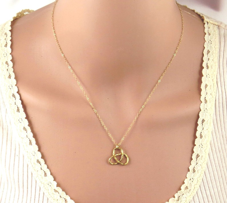 knot necklace knot pendant gold infinity necklace Gold Knot necklace gordian knot