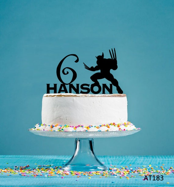 Stupendous Wolverine Birthday Cake Topper Personalized Cake Topper Etsy Personalised Birthday Cards Veneteletsinfo