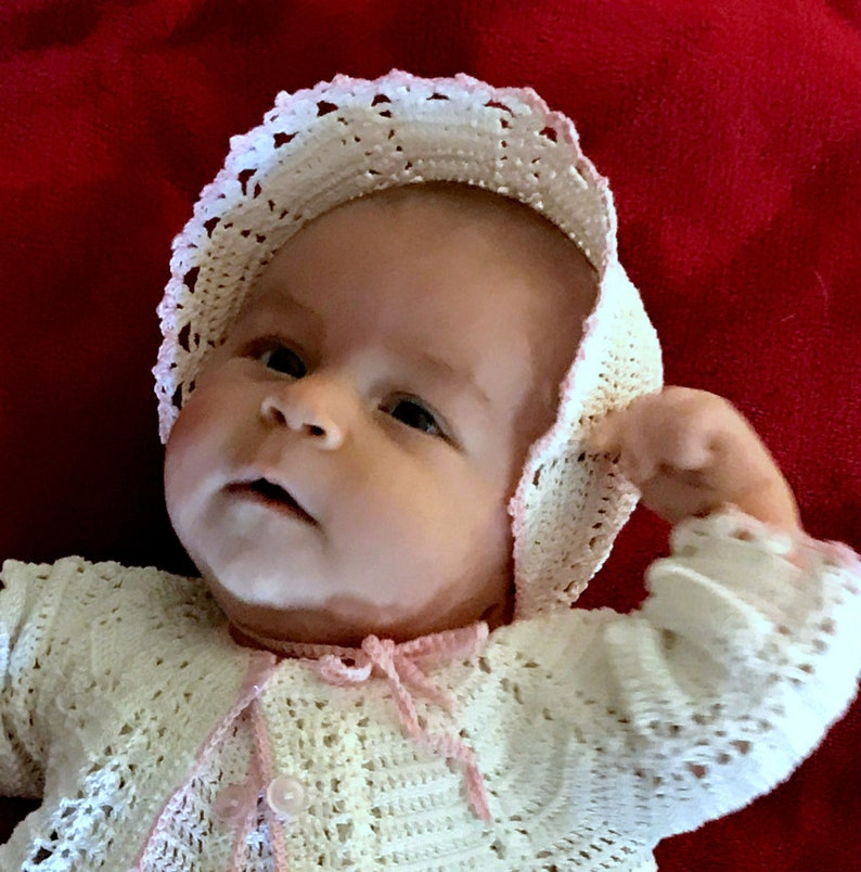 Baby Girl Coming Home Outfit with Lace Jacket Bonnet Mary Jane Booties Rompers