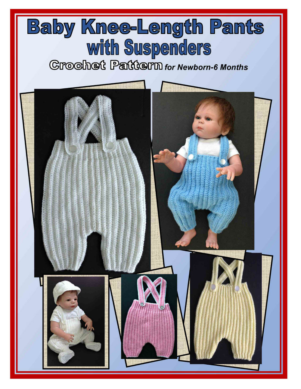 Crochet Pattern Baby Pants With Suspenders Knee Length Etsy