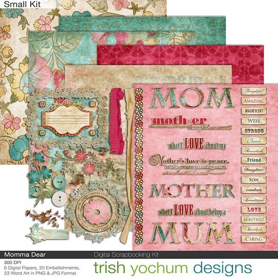 mother s day digital mom clipart scrapbook mum momma etsy