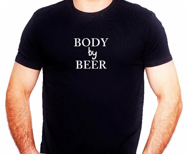 6ecc70bb Body By Beer TeesFunny StatementT Shirt MessagesFunny Beer | Etsy