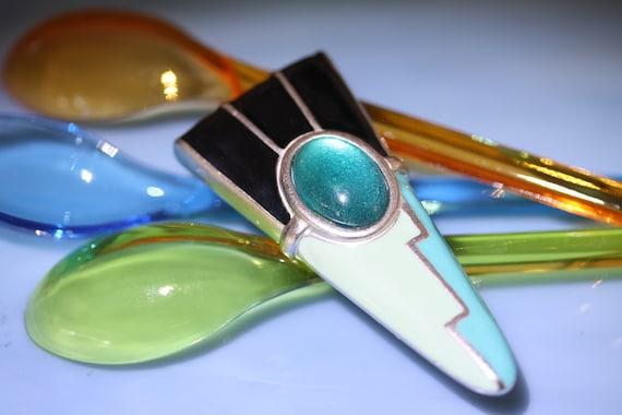 1950 Atomic Pastel Enamel Pin - image 1