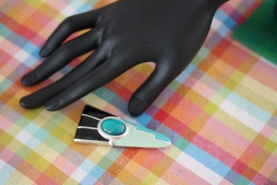 1950 Atomic Pastel Enamel Pin - image 5