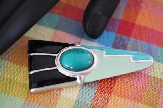 1950 Atomic Pastel Enamel Pin - image 3