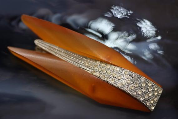 Vintage French Lucite Blazer Clip Dress Clip