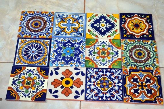 Mattonelle di ceramica messicane artigianale talavera fotografie