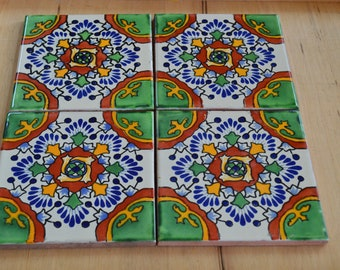 "40  Talavera Tiles 6 ""X 6"" inches"