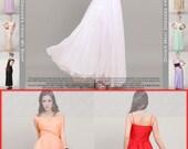 Items Similar To Empire Waist White Maxi Dress With