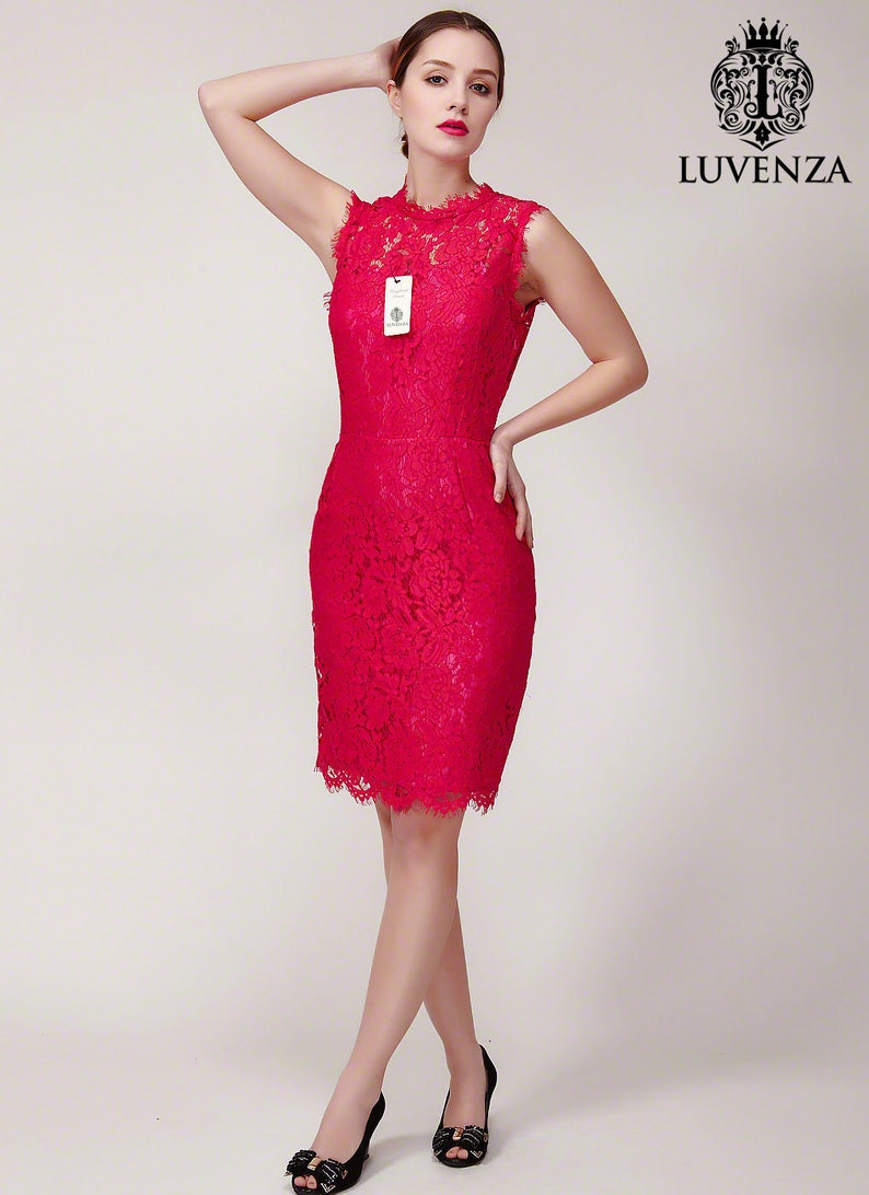 bb7e5821cc4 Floral Lace Sheath Silhouette Cocktail Mini Dress with Satin