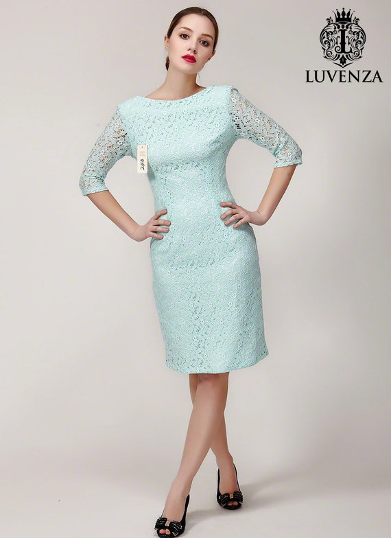 Light Blue Lace Dress With Deep V Back White Lace Sheath Dress White Lace Dress V Back Lace Sheath Dress In Custom Colors B243