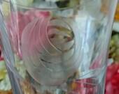 12 Fostoria quot Rose quot Cut Crystal Glasses (6 Iced Tea Glasses and 6 Wine or Sherry Glasses) - Elegant, Beautiful