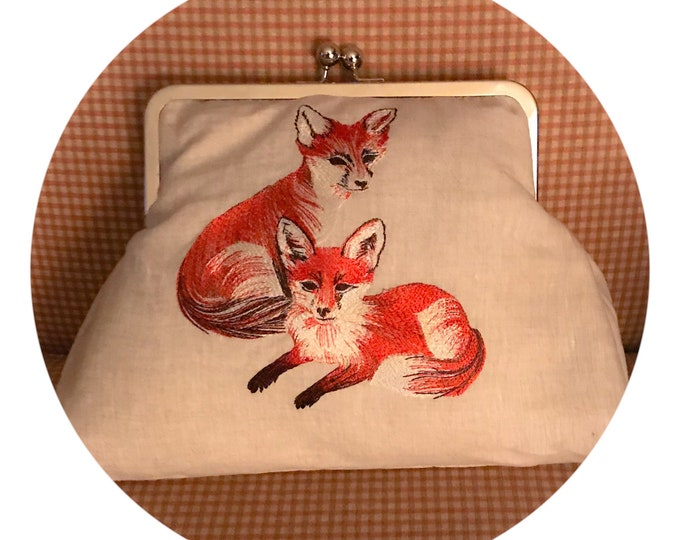 Fox Purse Handbag Fox Hunt  Equestrian Horse Clutch