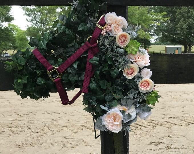 Equestrian HORSE  HEAD WREATH  Horse Decor Equestrian Gifts