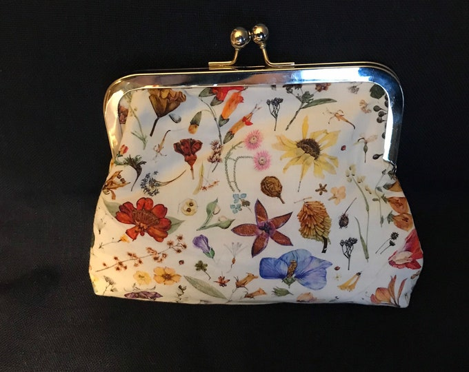Floral Purse Clutch Liberty of London lawn cotton