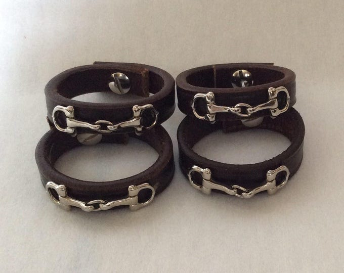 Equestrian Horse Gifts Napkin Rings Leather Equestrian Horse Bit and Bridle Hostess Horse Gift  Horse Table Setting