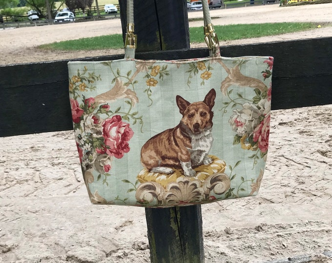 Corgi Dog Equestrian Purse Tote