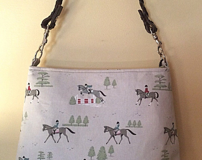 Equestrian horse handbag purse