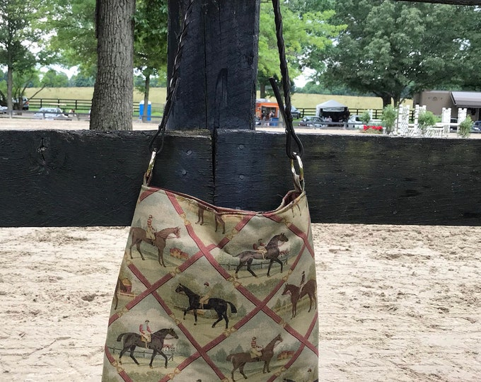 Equestrian Horse  Handbag  Tote Purse A Day at the Races
