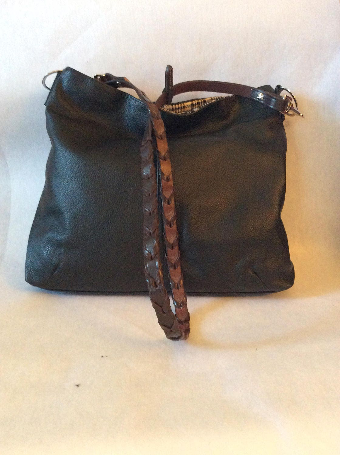 b6d7efc4cd9 Black Leather Equestrian Horse Bit Tote Handbag Purse Kentucky Derby