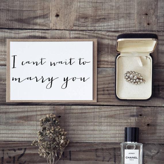 I Cant Wait To Marry You Husband Wedding Card Wedding Day