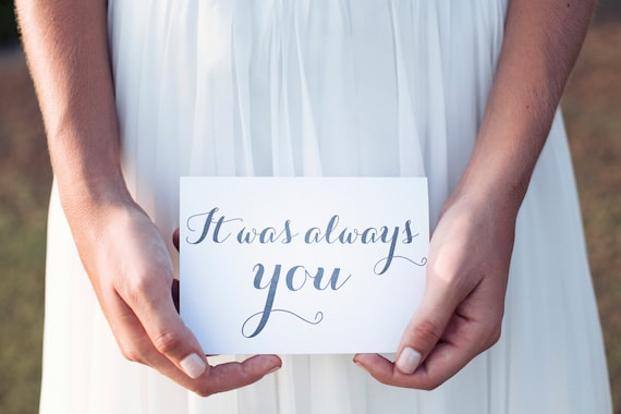 Bride Gifts From Groom On Wedding Day: It Was Always You Wedding Day Card Gift To Groom From