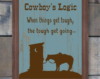 Bathroom Decor, Western Decor, Western Bathroom Wall Art, Cowboy Sign, Gift for Cowboy