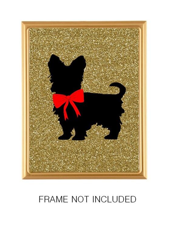 Yorkshire Terrier Art Print Modern Decor Dog Lover Gift Etsy