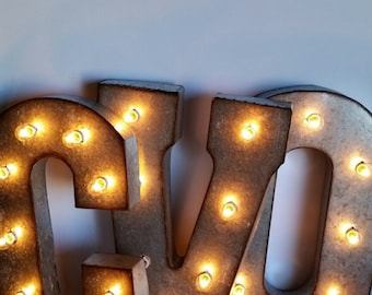 light up letters 21 metal marquee lights electric bulbs sign