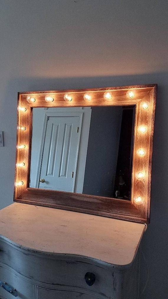 marvelous Etsy Vanity Mirror Part - 7: Large Vanity Mirror Reclaimed Driftwood Beveled Horizontal | Etsy