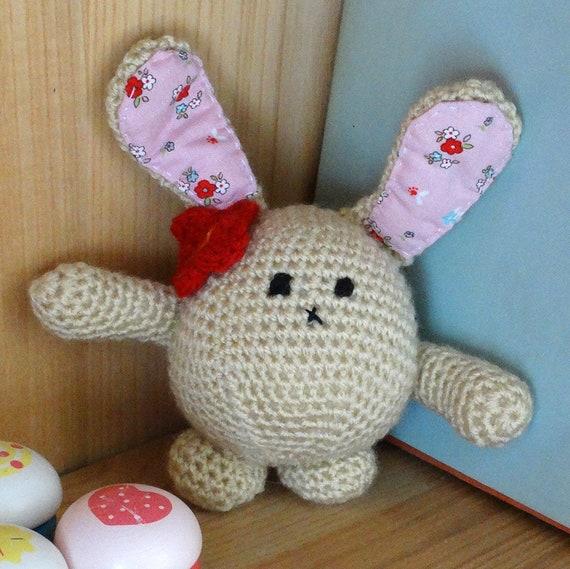Beige Blase Hase Hase Spielzeug Amigurumi Hase Hase häkeln   Etsy